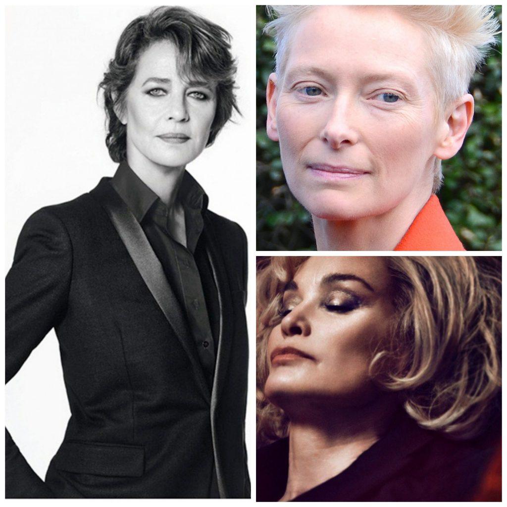 Charlotte Rampling for NARS; Tilda Swinton is die 2015 gesig van NARS; Jessica Langge vir Marc Jacobs