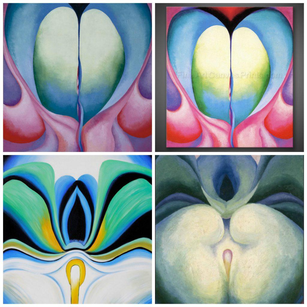 Georgia O'Keefe's erotic flower paintings